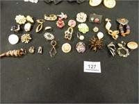 Clip-On Earrings; 25 Pair
