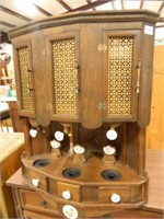 Alcohol Dispenser in Wood Cabinet