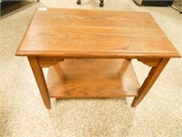 """Wooden Table; 15"""" x 25"""" x 19½"""" h."""
