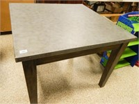 Table w/Metal Top; Wooden Legs