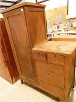 Antique Wardrobe w/Dresser