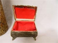 Vintage Beaded Items; Trinket Box