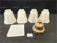 Light Globes (4); Candle Holder