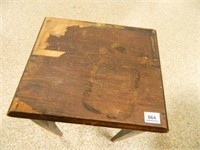 """Wooden Table; 13½"""" x 15¾"""""""