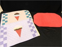 Placemats; Pillow; Twin Sheets