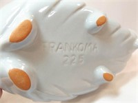 """Frankoma Blue Leaf Dish, 9"""""""