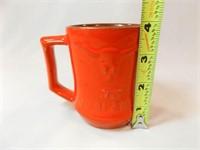 Frankoma Orange Zink Ranch Mug