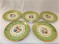 "Victoria Dinner Plates, 10½"" , 24K Gold"