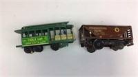 Tin Type Trains Engine & Plastic Cable Car