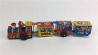Wind-Up Tin Toy Comic Circus Train