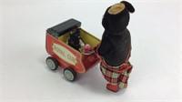 Antique Mamma Bear & Cub in Carriage