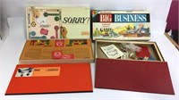 5 Board Games/Sorry, Masterpiece, Parcheesi & More