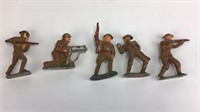 5 Vintage Barclay Soldier Figures + More