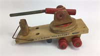 Wooden US Army Mini Toy Canons