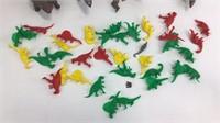 Lot of Colorful Mini Plastic Dinosaurs + More