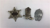 Junior Police, Fire Cheif, and Other Toy Badges +