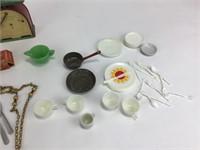 Miscellaneous Mini Utensils, Plates, Teacups +