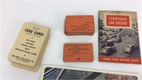 Vintage Car Manuals and Cards