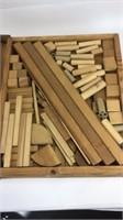 Large Lot of Vintage Wooden Building Blocks