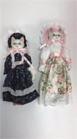 2 Pairs of Porcelain Head, Hands & Feet Cat Dolls