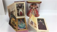 4 Special Edition Holiday & Valentine Barbies