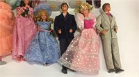 Lot of 10+ Various Ken & Barbie Dolls