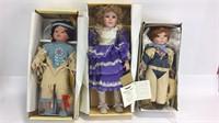 3 Seymour Mann Porcelain Dolls