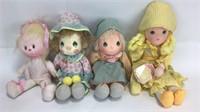 2 Precious Moments Plush Dolls + More