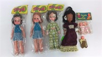 5 Vintage Dolls