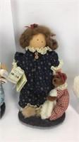 3 Lizzie High Wooden Dolls