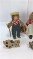 Lizzie High Wooden Farm Themed Dolls +