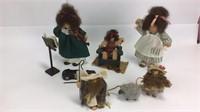 5 Lizzie High Wooden Dolls