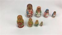 7 Sets of Russian Nesting Dolls