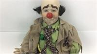 Doll Dynasty Porcelain Clyde Clown Doll