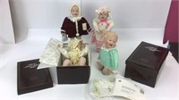 Four Yolanda Bello Knowels Porcelain Dolls