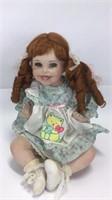 Two 1991 Cindy Marschner Tippy Porcelain Dolls