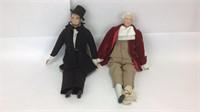 Abe & Washington Yield House Porcelain Dolls