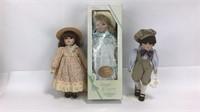 3 Gorham Musical Porcelain Dolls