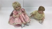 2 Marie Osmond Sitting Porcelain Dolls