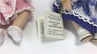 5 Marie Osmond Porcelain Tiny Tot Sitting Dolls
