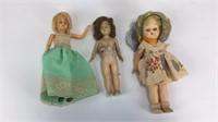 4 Vintage Plastic Dolls