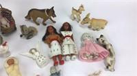 Vintage Baby Figurines, Various Animal Figures +