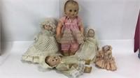 5 Vintage Baby Dolls