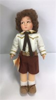 "Lenci Felt Italian  Aldo Doll 13"" H Original Box"