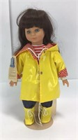"Engel-Puppe 19"" H ""Melanie"" in Yellow Raincoat"