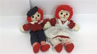 4 Sets of Raggedy Ann & Andy Plush Dolls
