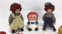 Raggedy Ann & Andy Porcelain Dolls + More