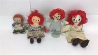 10 Vintage Raggedy Ann Plush Dolls