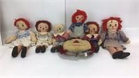 7 Vintage Raggedy Ann & Andy Dolls