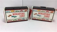 Two 1966 Vintage Mattel Mini Cars Carrying Cases